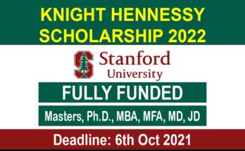 Knight Hennessy Scholarship