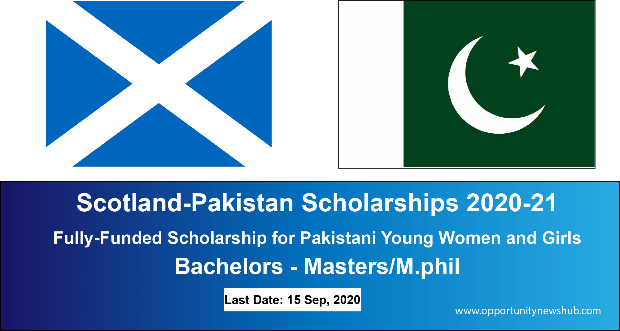 Scotland-Pakistan Scholarships 2020-21 for young women and ...