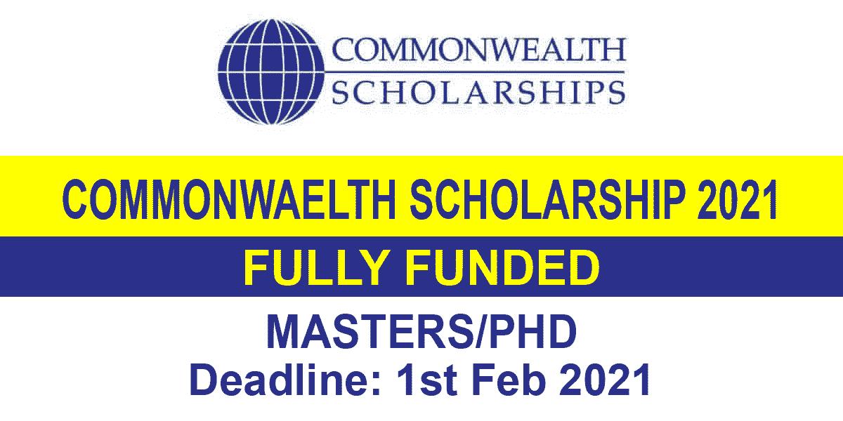 Commonwealth Scholarship 2021