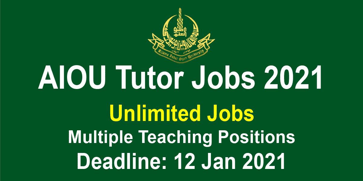 AIOU Tutor Jobs