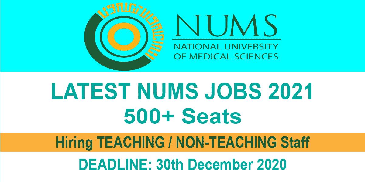 Latest NUMS jobs 2021
