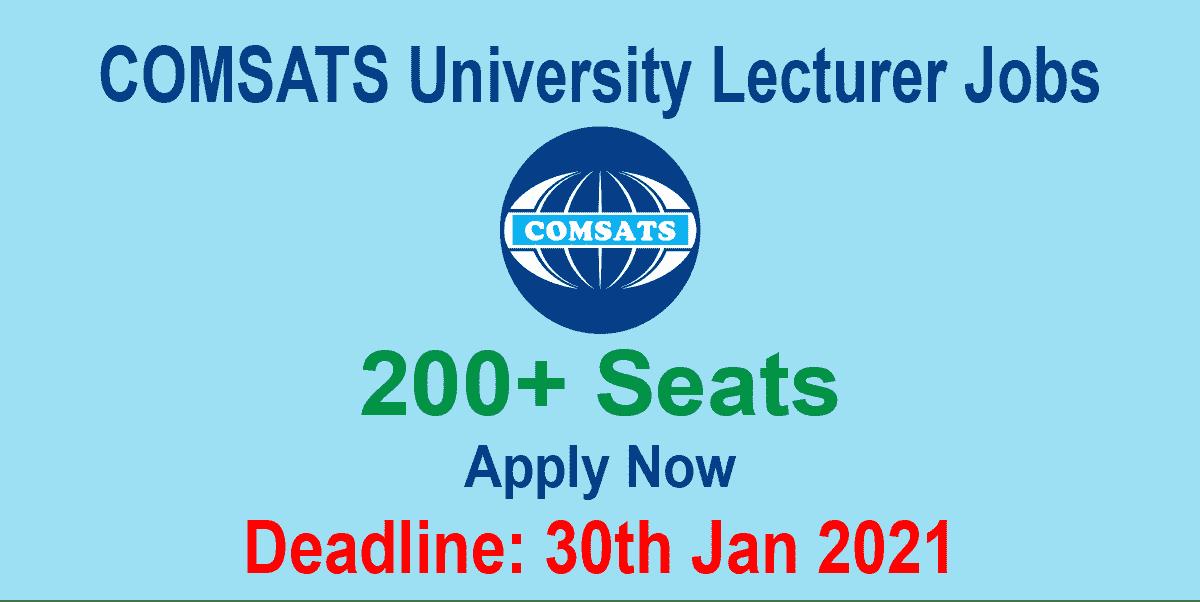 COMSATS University Lecturer Jobs