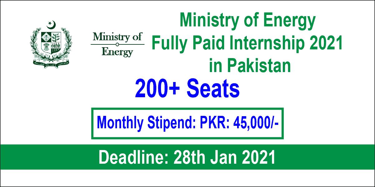 Ministry of Energy Internship
