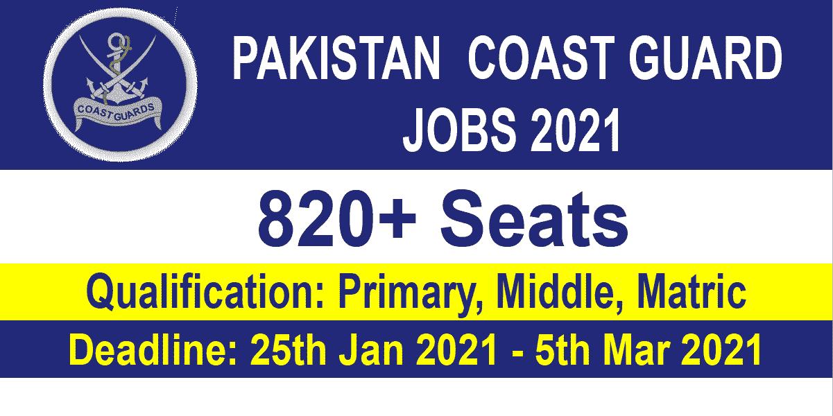 Pakistan Coast Guard Jobs
