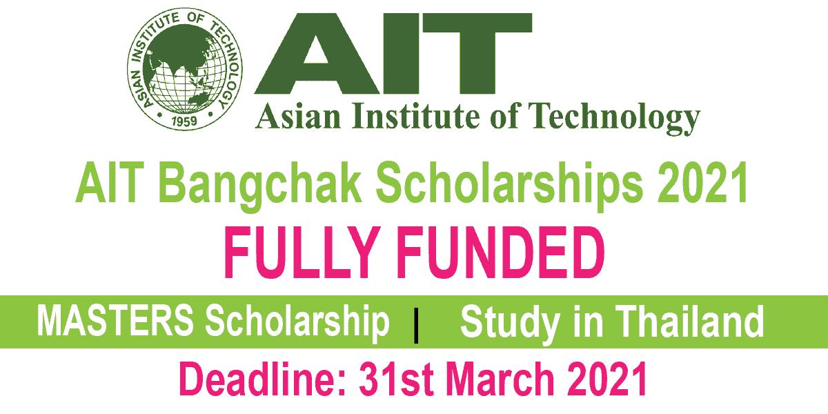 AIT Bangchak Masters Scholarships