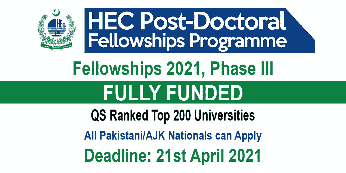 HEC Post Doctoral Fellowship
