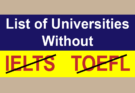 Universities Without IELTS