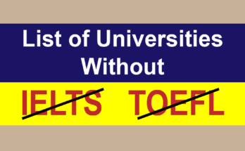 Universities Without IELTS