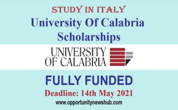 University Of Calabria Scholarships
