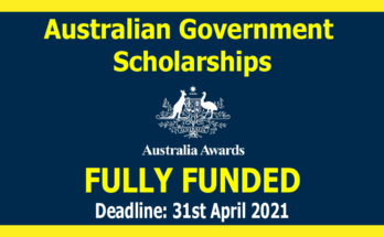 Australian Awards Scholarships 2021