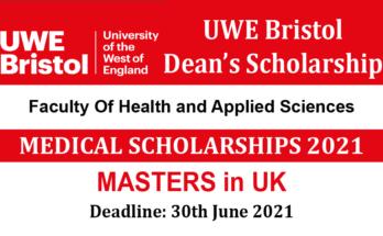 UWE Bristol Dean's Scholarship