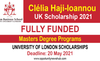 Clélia Haji-Ioannou Scholarship