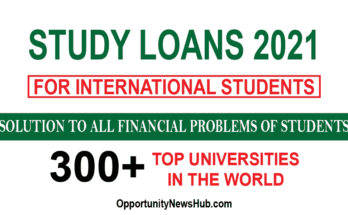Study Loan for International Students