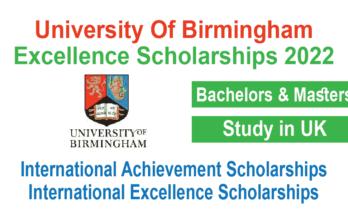 University Of Birmingham Excellence Scholarships