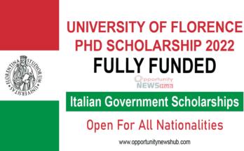 University of Florence Ph.D. Scholarship