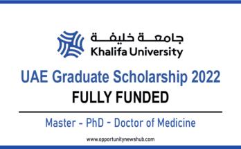 Khalifa University Graduate Scholarship