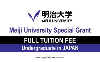 Meiji University Special Grant