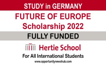 Future of Europe Scholarship