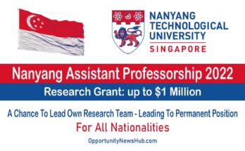 Nanyang Assistant Professorship 2022