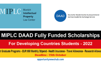 MIPLC DAAD Scholarship 2022 in Germany