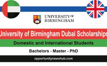 University of Birmingham Dubai Scholarships