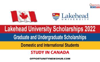 Lakehead University Scholarships 2022