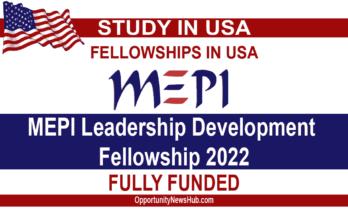 MEPI Leadership Development Fellowship 2022