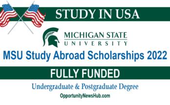 MSU Study Abroad Scholarships 2022