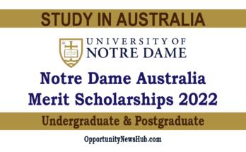 Notre Dame Australia Scholarships