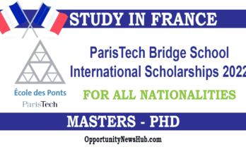 ParisTech Bridge School International Scholarships