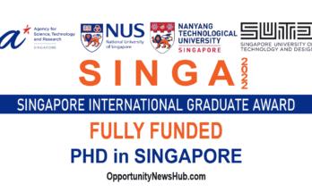 Singapore International Graduate Award 2022