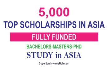 Top Scholarships in Asia