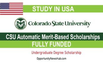 CSU Automatic Merit-Based Scholarships 2022