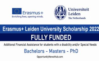 Erasmus+ Leiden University Scholarship