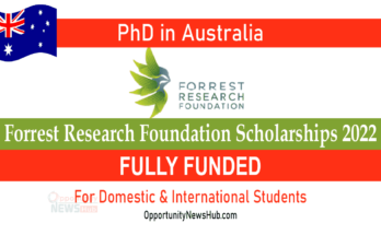 Forrest Research Foundation Scholarships 2022