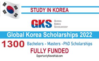 Global Korea Scholarships 2022