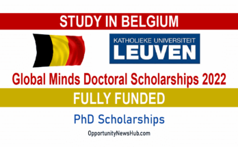 Global Minds Doctoral Scholarships 2022