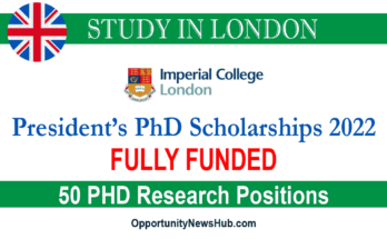 Imperial College President's Scholarships 2022