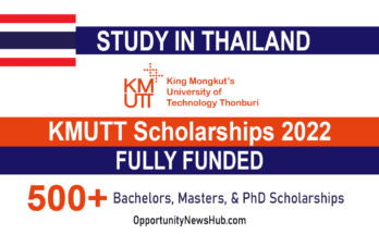 KMUTT Scholarships 2022