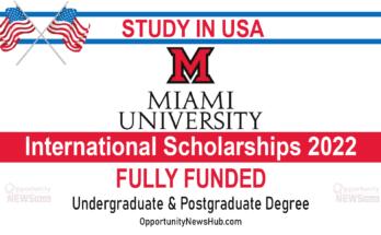 Miami University International Scholarships