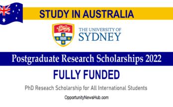 Postgraduate Research Scholarships 2022