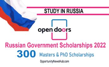 Open Doors Russian Government Scholarships