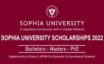 Sophia University Scholarships