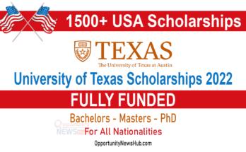 University of Texas Scholarships 2022
