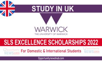 University of Warwick SLS Excellence Scholarships