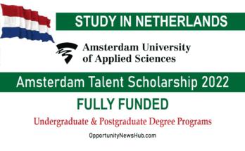 Amsterdam Talent Scholarship 2022