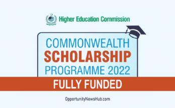 HEC Commonwealth Scholarship 2022