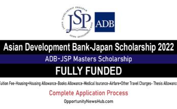 Asian Development Bank-Japan Scholarship 2022