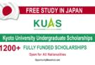 Kyoto University Undergraduate Scholarships 2022