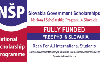 Slovakia Government Scholarships 2022